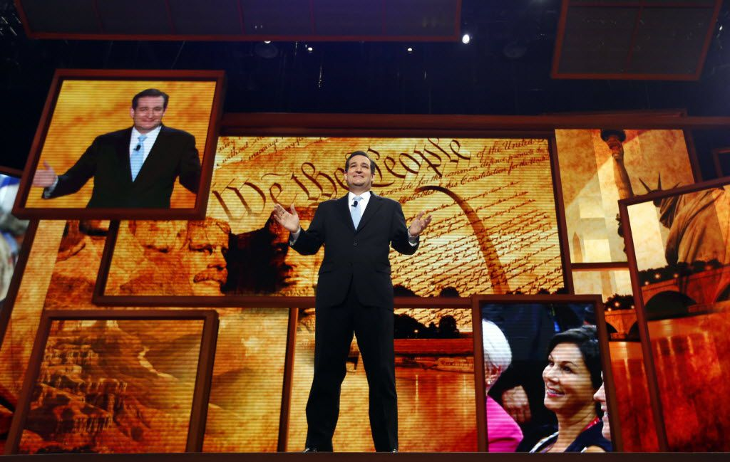 Senate Republican candidate Ted Cruz addressed the crowd during the 2012 Republican National Convention in Tampa, Fla.