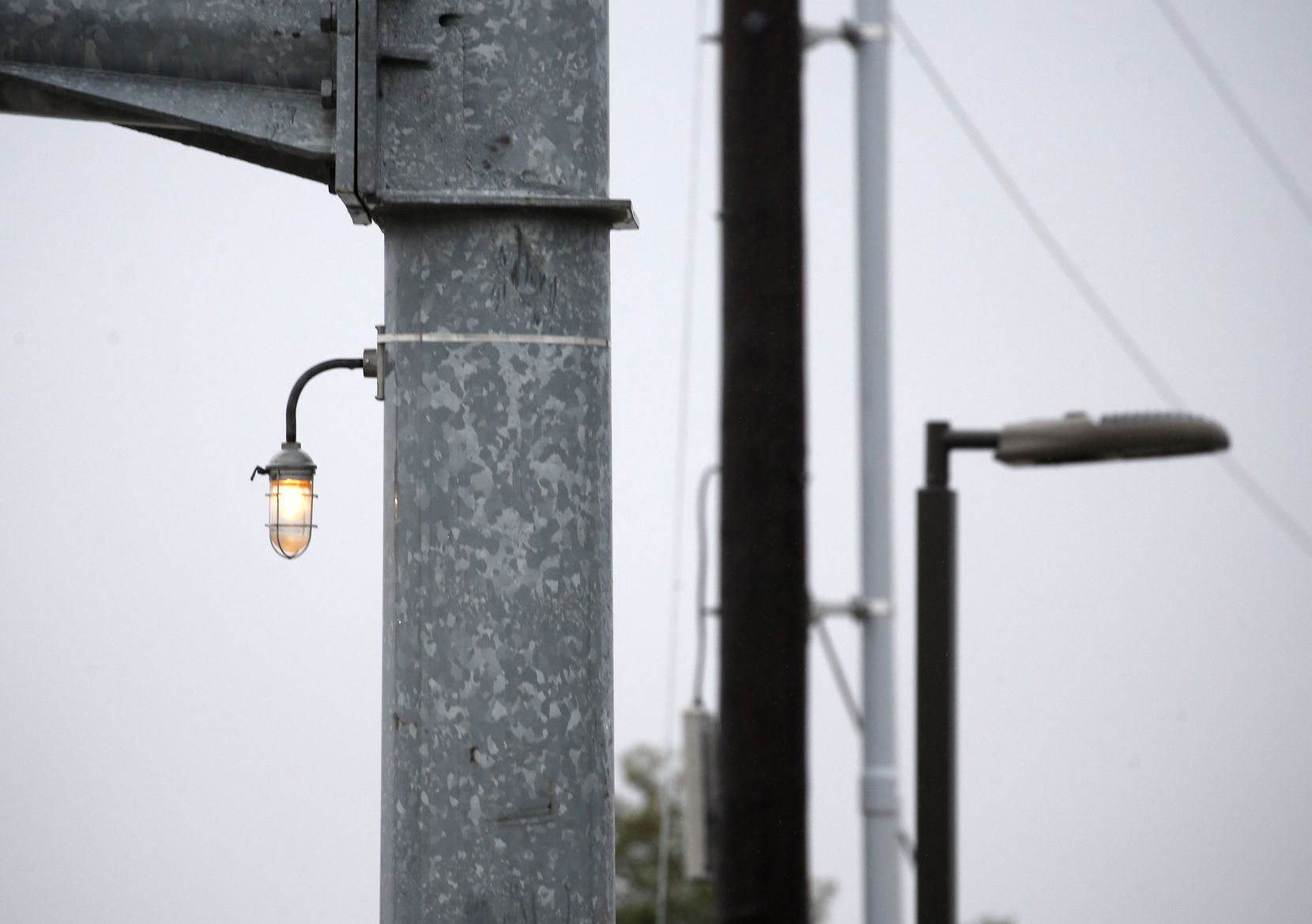 This white light affixed to a traffic stop arm at Campbell and Coit roads is one of many the city of Richardson has around town to help with red light enforcement.