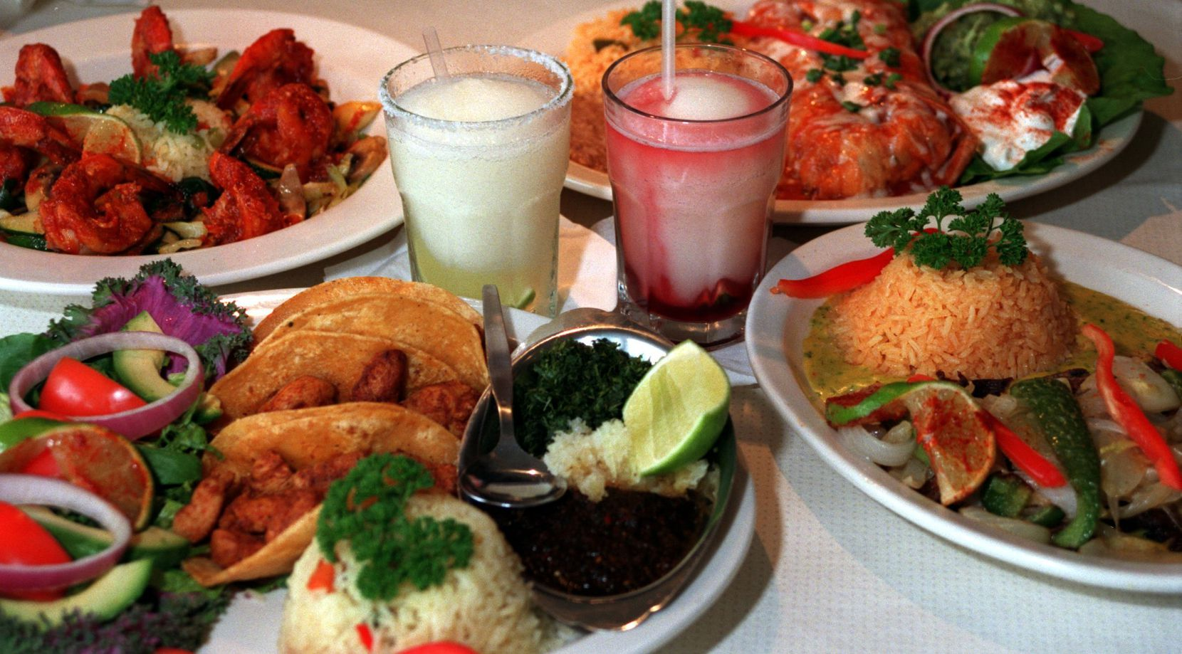 This 1998 file photo shows a smattering of what our critic called 'wonderful Mexican dishes' at Mi Cocina.