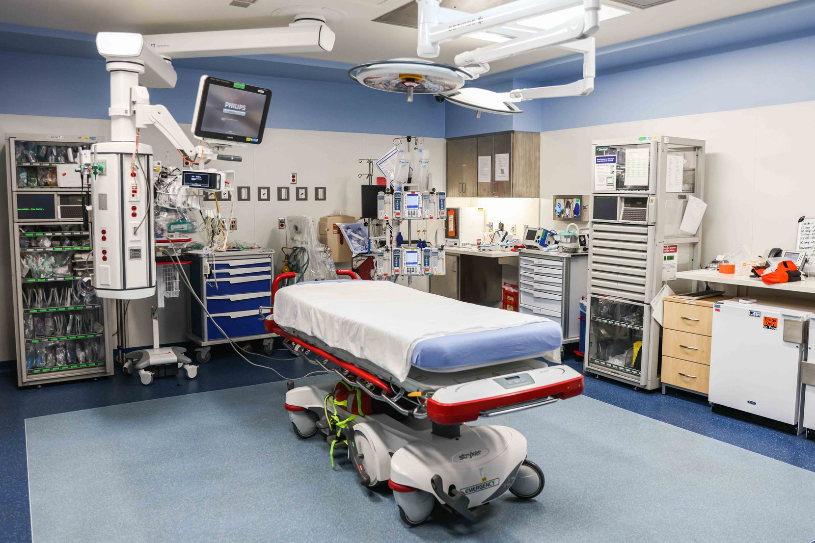 Trauma room at the Children's Medical Center in Dallas on Wednesday, June 16, 2021. (Lola Gomez/The Dallas Morning News)
