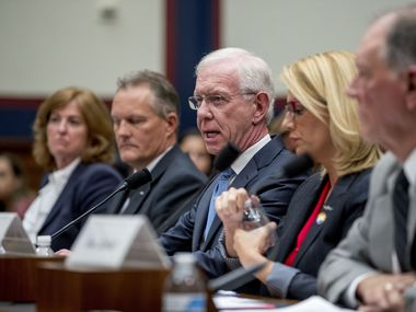 Sara Nelson of the Association of Flight Attendants-CWA (second from right) was among airline industry leaders who testified in June 2109 about the Boeing 737 Max to the House Committee on Transportation and Infrastructure.