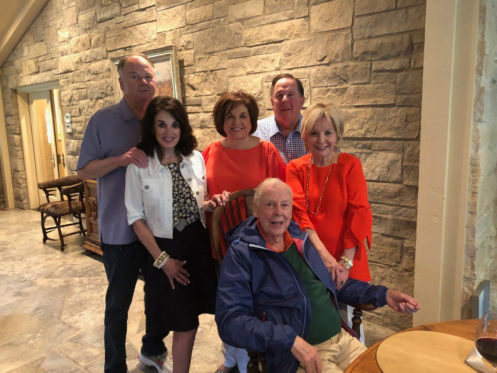 From left: Barry and Lana Andrews, Lee Ann and Alan White and Nelda Pickens, surrounded Boone Pickens last fall at his Mesa Vista Ranch.