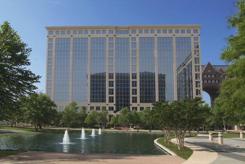 International Plaza I is on the Dallas North Tollway just north of Spring Valley Road.