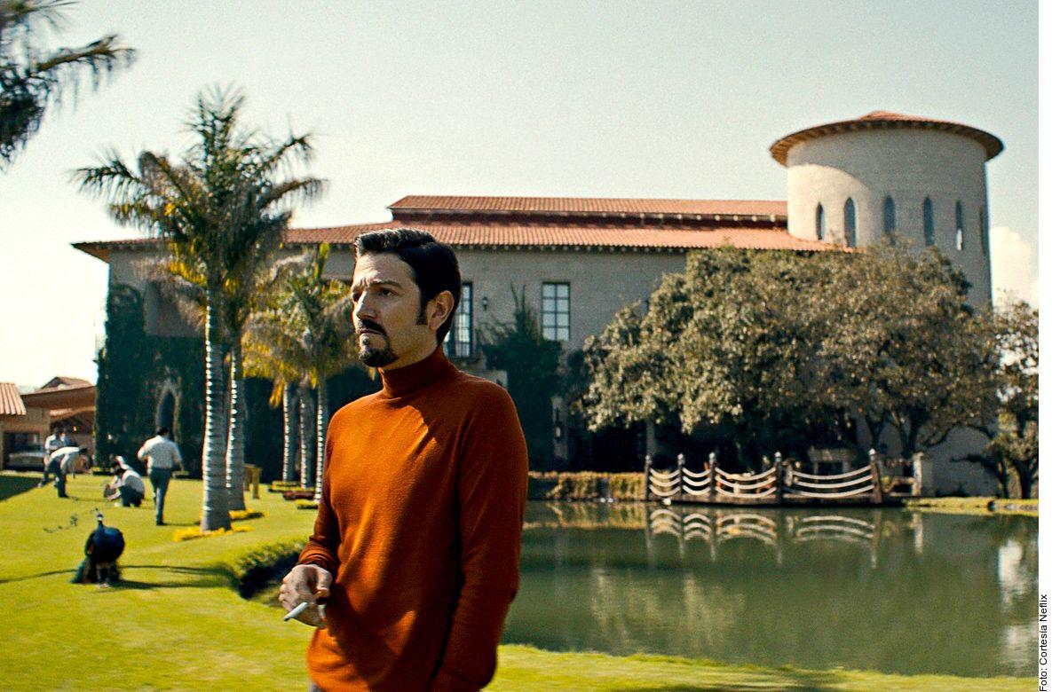 Diego Luna, quien recrea a Miguel Ángel Félix Gallardo, líder del cártel de Guadalajara, en la serie de Netflix, Narcos: México.
