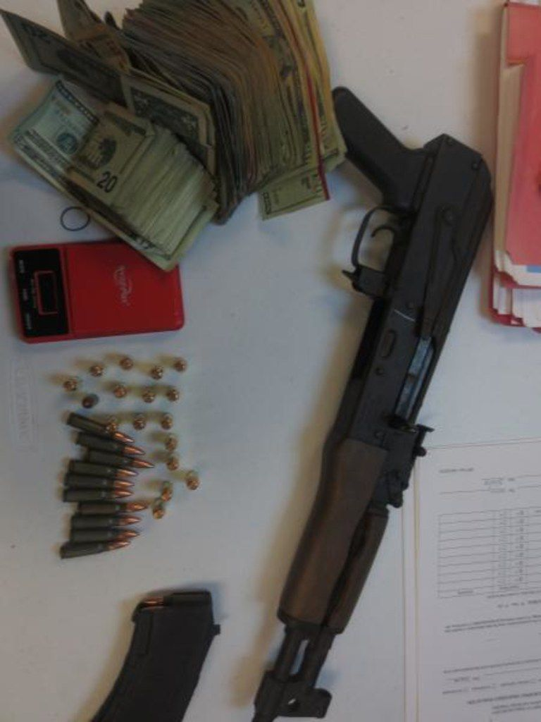 CBP officers at Presidio port discovered an AK-47 along with 47 rounds of ammunition and more than $10,000 in cash hidden in a truck.