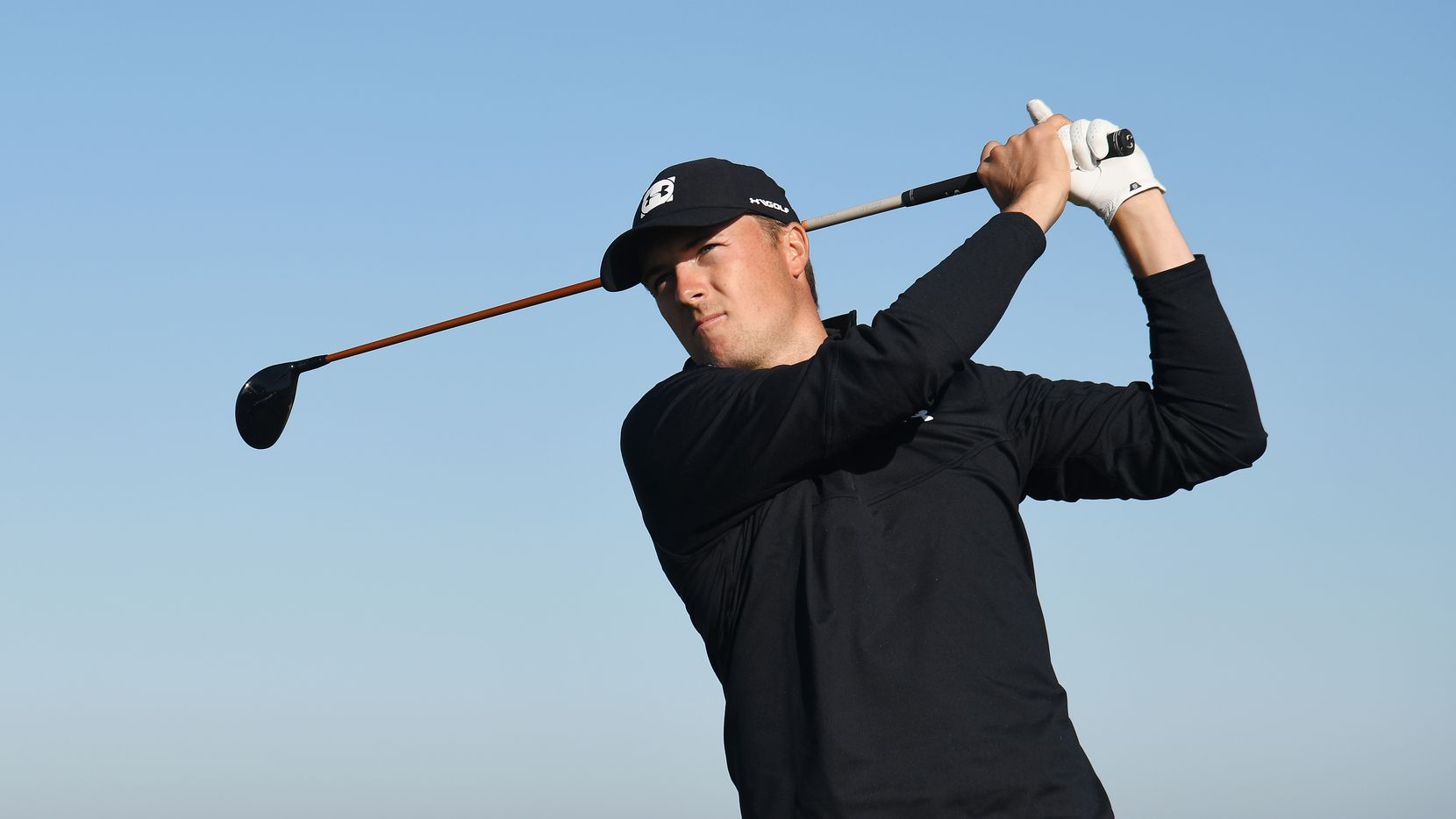 PEBBLE BEACH, CALIFORNIA - FEBRUARY 07:  Jordan Spieth of the United States plays his shot from the 13th tee during the second round of the AT&T Pebble Beach Pro-Am at Monterey Peninsula Country Club on February 07, 2020 in Pebble Beach, California.