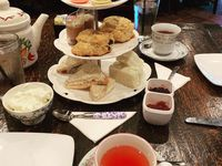 Pictured here is the tea service at The Londoner in Colleyville on July 27, 2019.