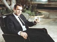 "Actor Sean Connery in 1966 is shown during filming the James Bond movie ""You Only Live Twice,"" on location in Tokyo, Japan."