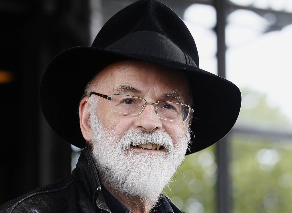 "FILE - This is a Tuesday, Oct. 5, 2010   file photo of British author Terry Pratchett  seen at the Conservative party conference in Birmingham, England.  Fantasy writer  Pratchett, creator of the ""Discworld"" series   died  Thursday March 12, 2015 aged 66."