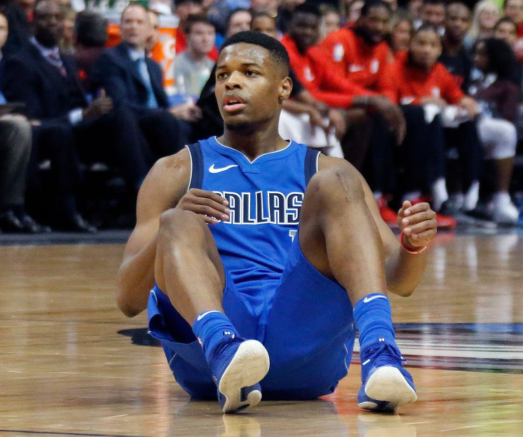 Dallas Mavericks guard Dennis Smith Jr. (1) is pictured during the Houston Rockets vs. the Dallas Mavericks NBA basketball game at the American Airlines Center in Dallas on Wednesday, January 24, 2018. (Louis DeLuca/The Dallas Morning News)