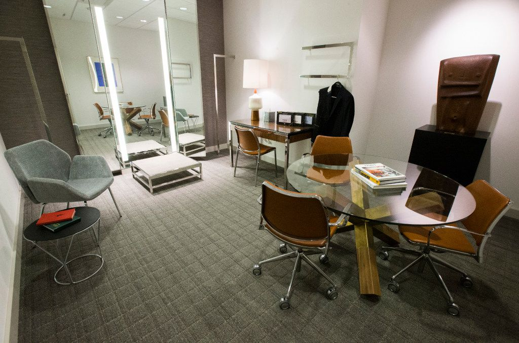A fitting room for custom made suits inside a new Neiman Marcus store on Wednesday, February 8, 2017 at The Shops at Clearfork in Fort Worth, Texas. (Ashley Landis/The Dallas Morning News)