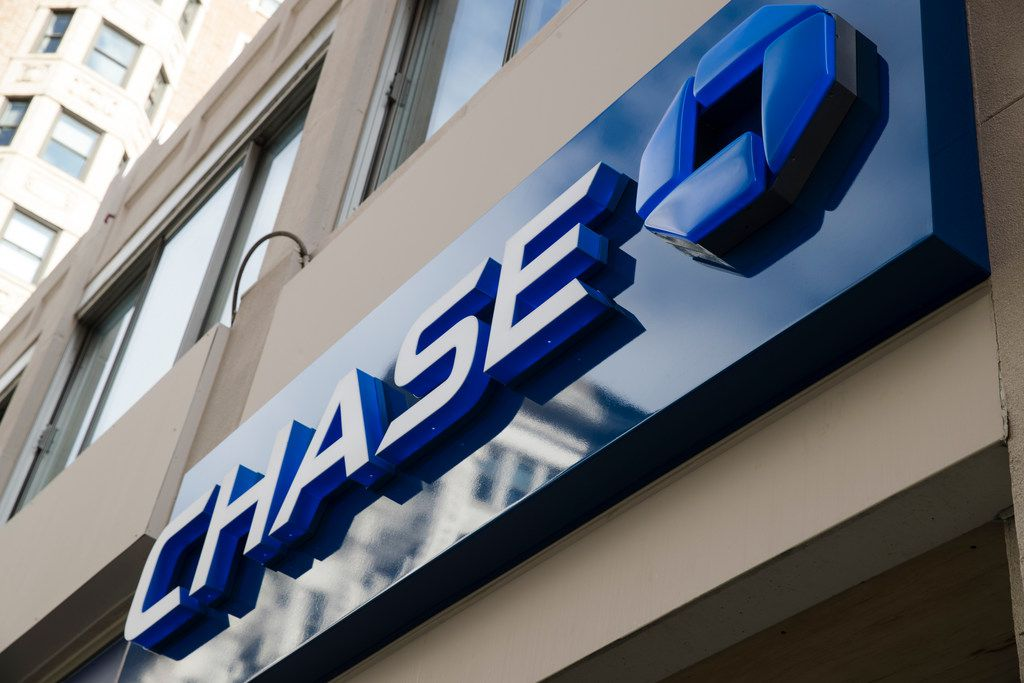 This Nov. 29, 2018, photo shows a Chase bank location in Philadelphia. JP Morgan Chase reports financial results on Tuesday, July 16, 2019. (AP Photo/Matt Rourke)