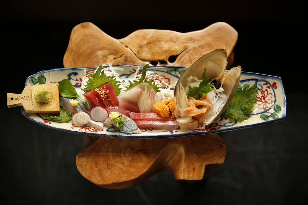 Assorted sashimi at Tei-An. Chef-owner Teiichi Sakurai opened the One Arts Plaza restaurant in 2008, the same year Neighborhood Services, Bolsa and Nonna debuted.