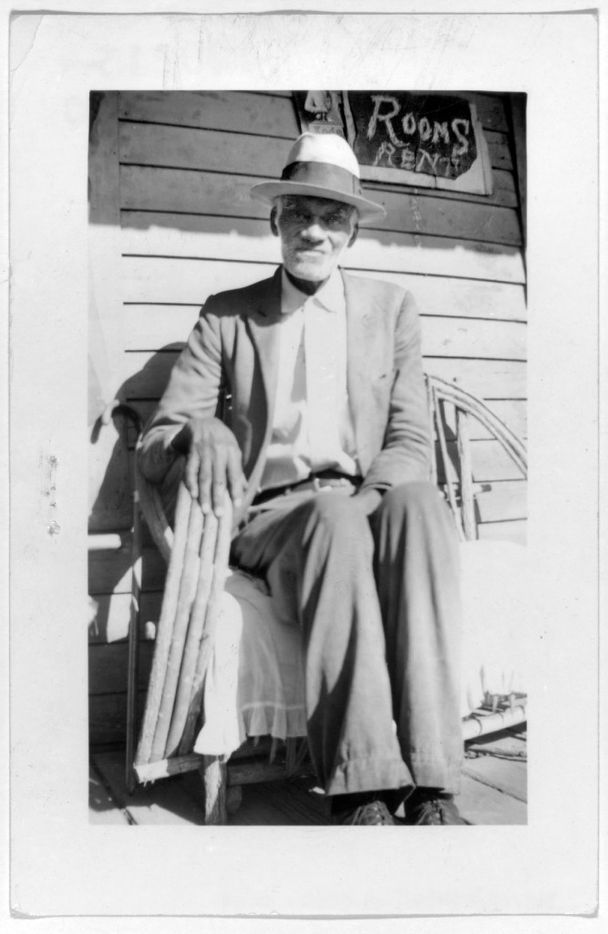 Andrew Goodman, ex-slave, shown in Dallas, on Dec. 1, 1937. The photo is from a collection of portraits of African American ex-slaves created by the U.S. Works Progress Administration, for the Federal Writers' Project slave narratives collection.