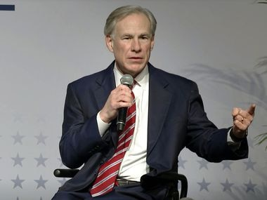 "Gov. Greg Abbott says one of his major goals for the legislative session that began this week is ""to make it fiscally impossible"" for a city to slash funding of police. Screen grab is from his appearance at the Texas Public Policy Foundation's Policy Orientation event in Austin late Thursday."