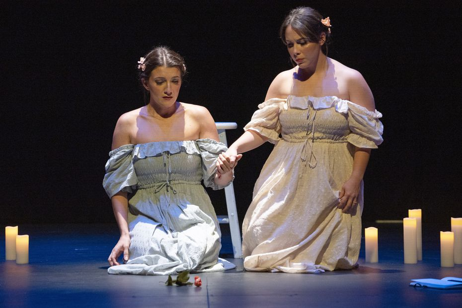 """Sopranos Bethany Mamola and Agostina Migoni perform """"Frauenliebe und Leben"""" during a concert presented by Das Blümelein Project at the Winspear Opera House in Dallas on September 2."""
