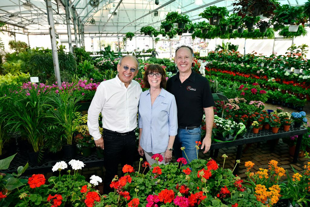 L-R: Mike Ruibal, Linda Ruibal and Mark Ruibal, of Ruibal's Plants of Texas, at the Dallas Farmers Market, Saturday, March 24, 2018 in downtown Dallas. Ben Torres/Special Contributor