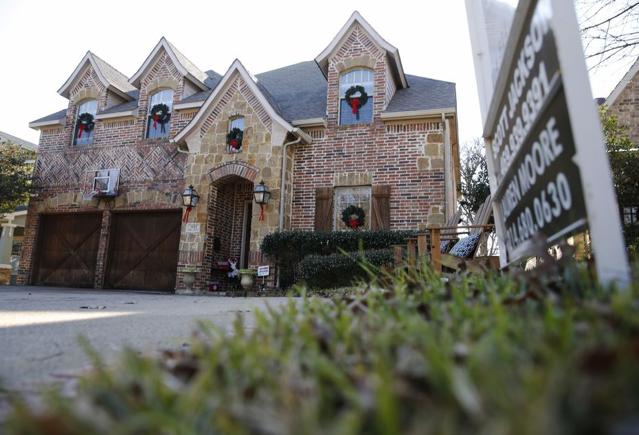 A house for sale on Palo Pinto Avenue in Dallas in December.