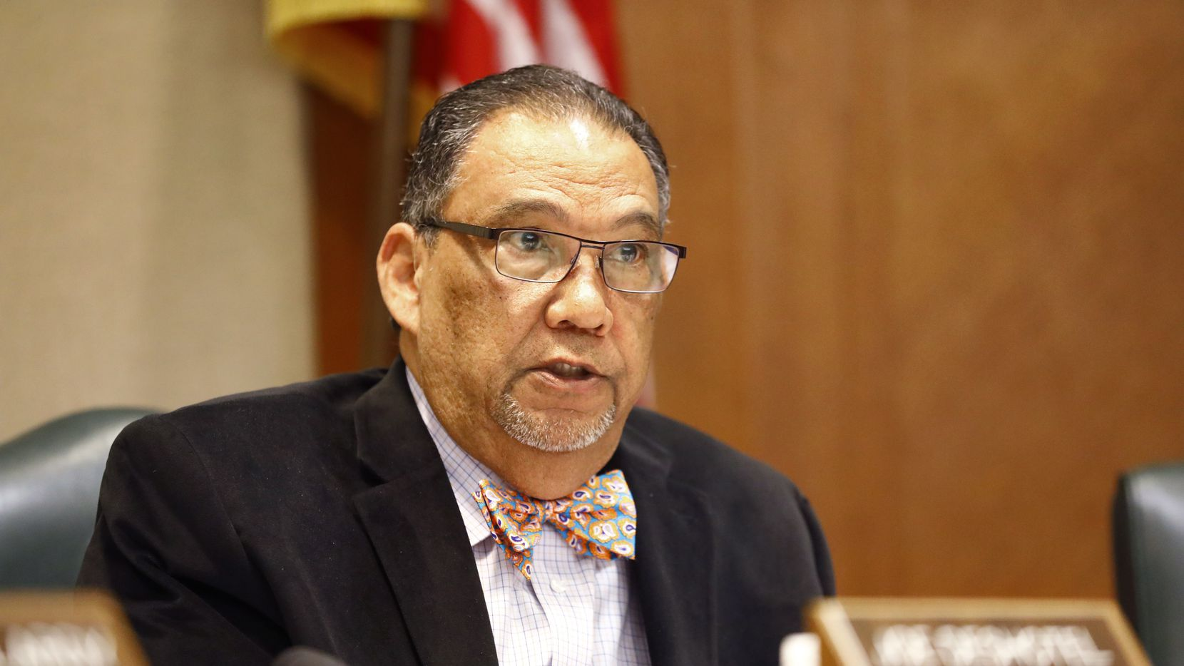 Texas Representative Joe Deshotelof District 22 (D-Beaumont) is pictured during a House Human Services Committee meeting House Bill 2453 in the Texas State Capitol extension in Austin, Tuesday, April 2, 2019. The Bill represented by Texas Representative Sarah Davis of District 134 (R-West University Place) relates to the operation and administration of Medicaid, including the Medicaid managed care program. (Tom Fox/The Dallas Morning News)