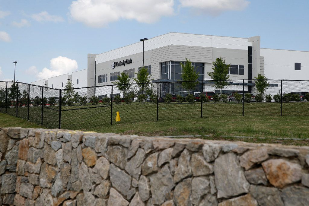 Kimberly-Clark in the Mountain Creek Business Park in Dallas on April 18, 2017. (Nathan Hunsinger/The Dallas Morning News)