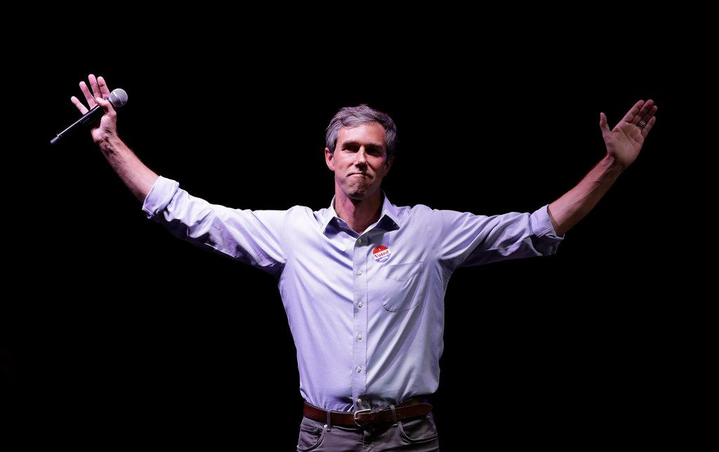 In this Nov. 6, 2018, file photo, Rep. Beto O'Rourke, D-Texas, the 2018 Democratic Candidate for U.S. Senate in Texas, makes his concession speech at his election night party in El Paso. O'Rourke didn't turn Texas blue, but for the first time in decades, it's looking much less red. Texas has long been a laboratory of conservatism. But cracks in the GOP's supremacy are emerging. The results could reverberate nationally.