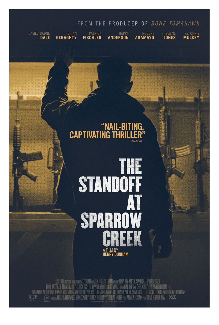 """The Standoff at Sparrow Creek,"""" a film by Henry Dunham, produced by Cinestate"""