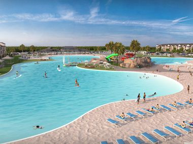 The SoHo Square mixed-use project in West Dallas will have a 5-acre centerpiece lagoon.