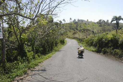 The road to Las Terrenas, Samana Peninsula, Dominican Republic.