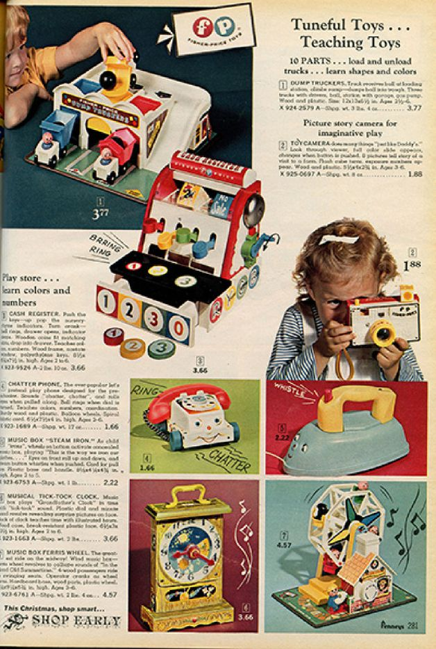 Toys from 1961 J.C. Penney Christmas catalog, courtesy of DeGolyer Library, Southern Methodist University