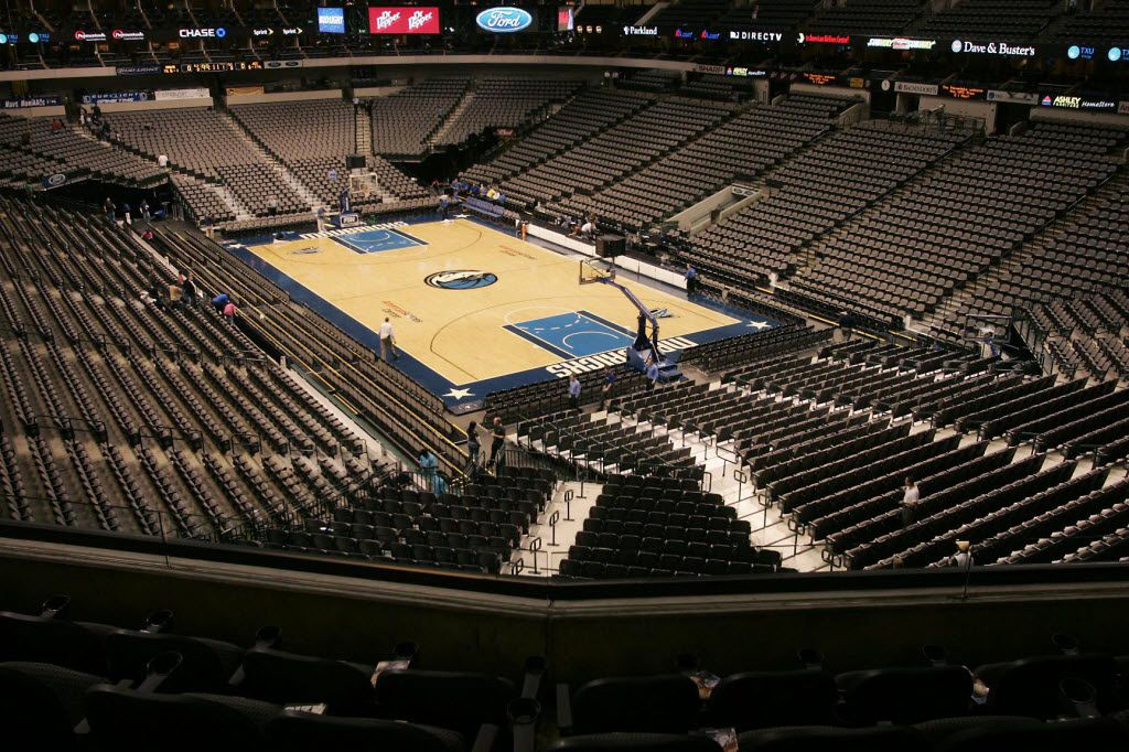 From Ice to Wood: the American Airlines Center changeover from Dallas Stars game to Dallas Mavericks game in the same day, Saturday, Jan. 28, 2006.  This was the first time in AAC history to turn around the Center for two games.