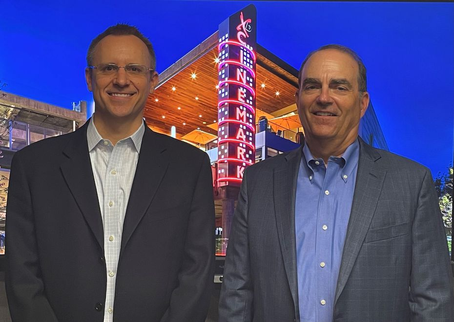 Sean Gamble (left) will take on the role of CEO at the start of 2022. Mark Zoradi (right) announced his retirement Wednesday.