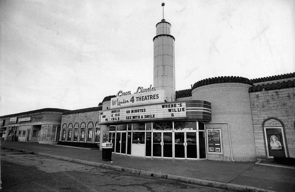 The Casa Linda theater was the first building in the plaza. It is now the Natural Grocers.