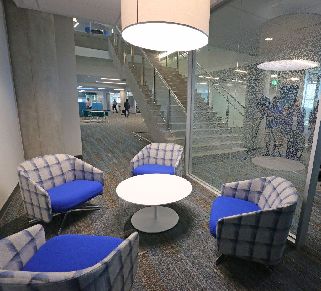 Stylish sitting areas are seen throughout the Toyota headquarters in Plano, Texas, photographed on Thursday, July 6, 2017. (Louis DeLuca/The Dallas Morning News)
