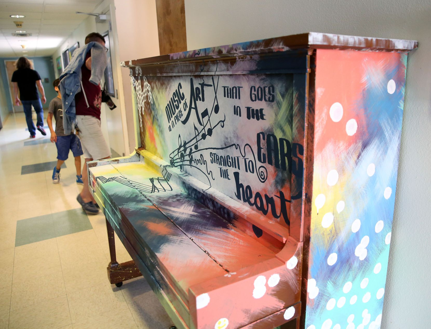 The hallway at Helping Hand Home, a residential foster care facility for children, in Austin, Texas on Tuesday, June 28, 2017. (Rose Baca/The Dallas Morning News)