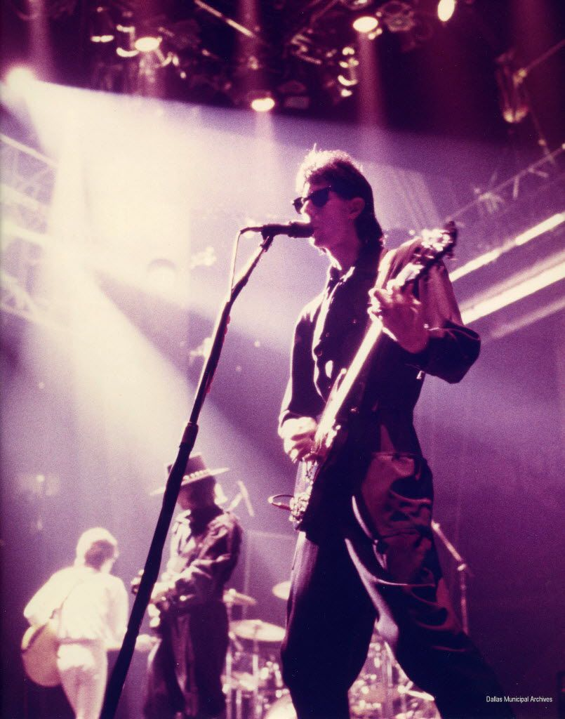 The Cars'• Ric Ocasek performs at Reunion Arena on Sept. 10, 1984.'