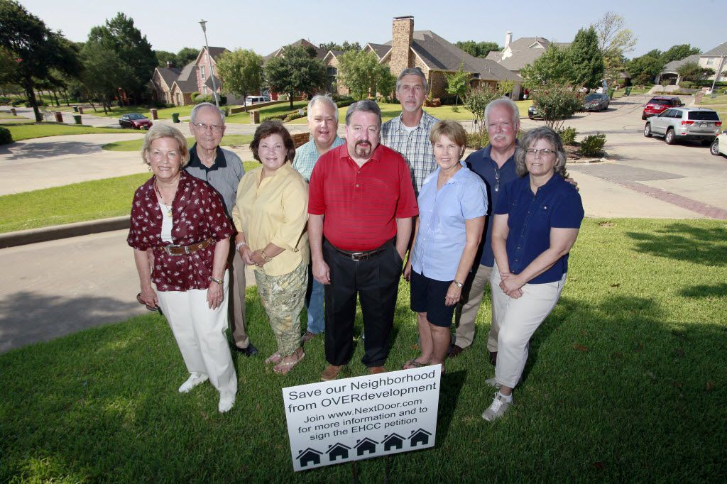 Friends of South Garland members opposed an earlier redevelopment plan for the Eastern Hills Country Club property in 2015.