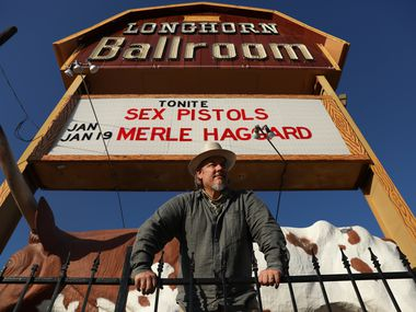 Edwin Cabaniss, owner of the Kessler Theater in Oak Cliff, has a contract to buy the Longhorn Ballroom. The legendary Dallas  music club on Corinth Street is recognized by the historic marquee that stands tall behind Cabaniss Sept. 25, 2021.