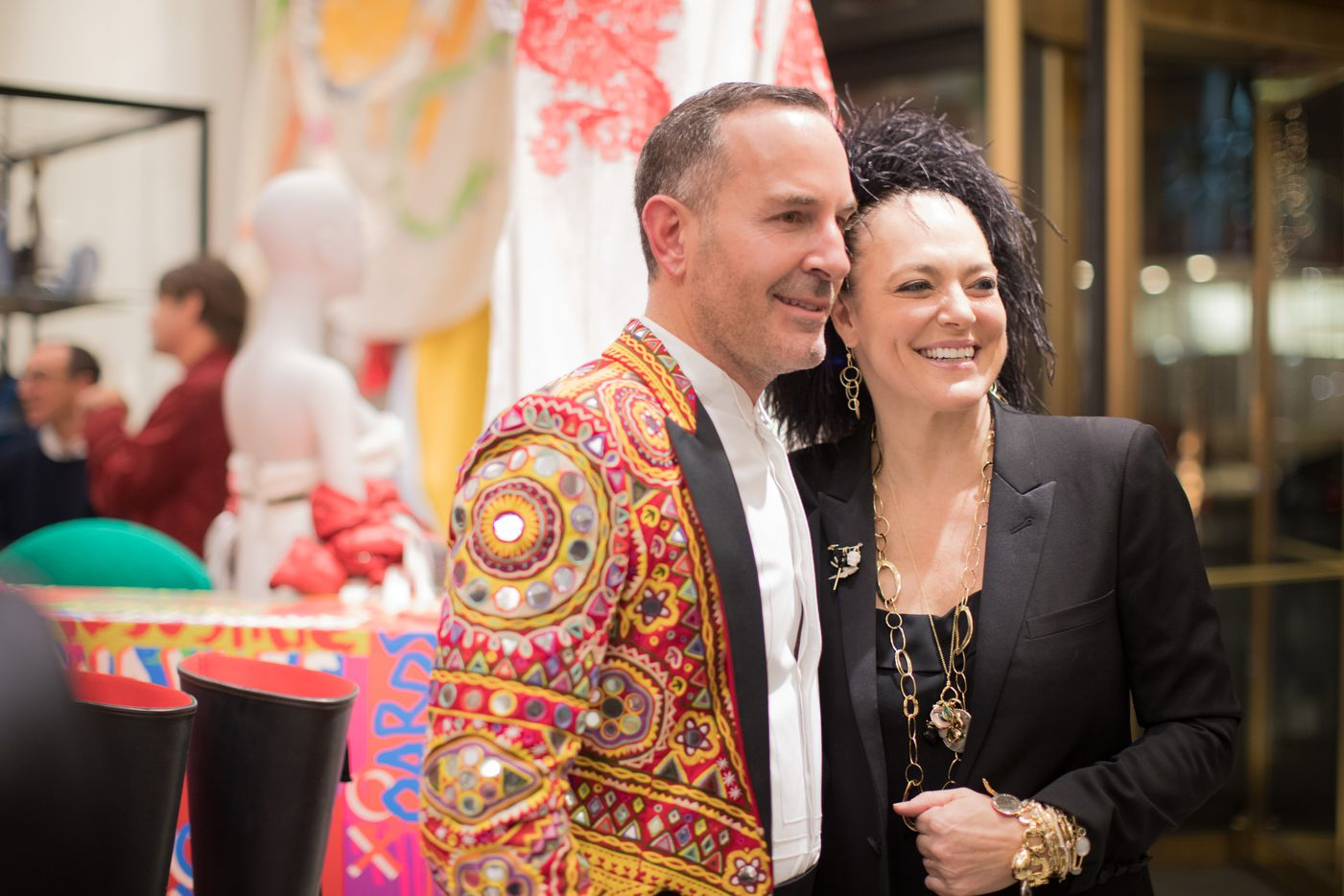 Dressed as the ringmaster, Forty Five Ten co-founder Brian Bolke welcomed designer Ippolita Rostagno to Friday night's opening gala.