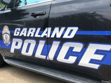 A Garland police car is seen in this photo provided by the police department.