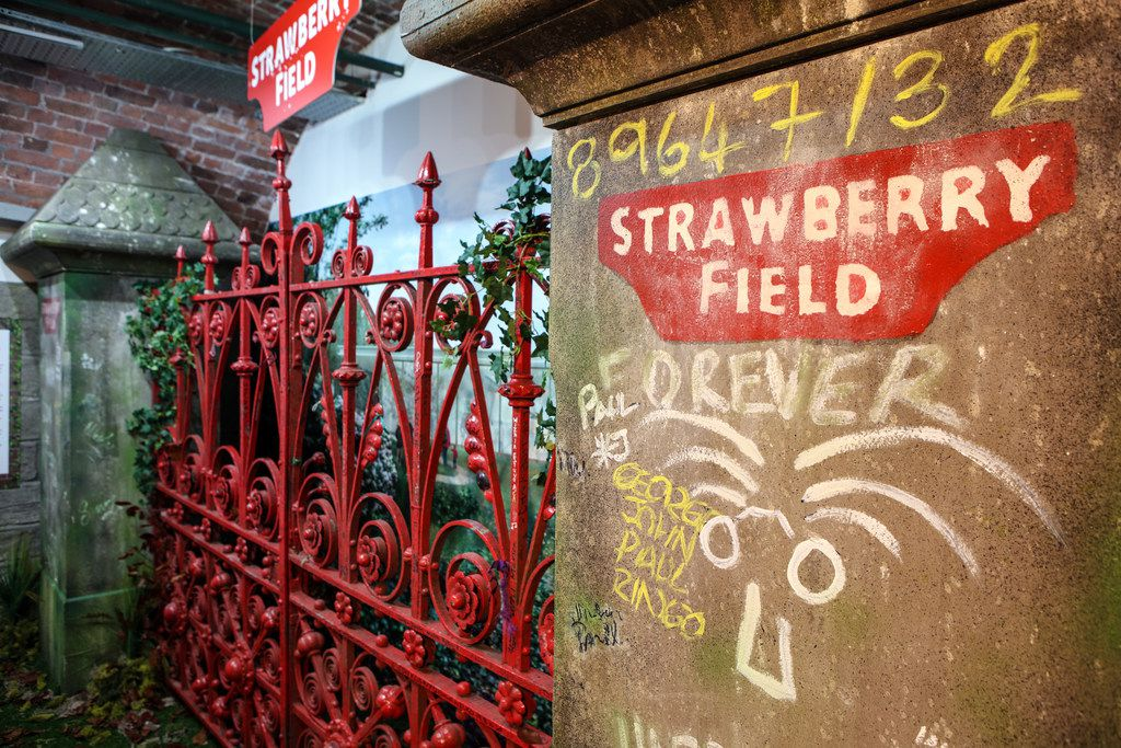 The Beatles Story museum in Liverpool has the famed Strawberry Field gates, among other Beatles memorabilia