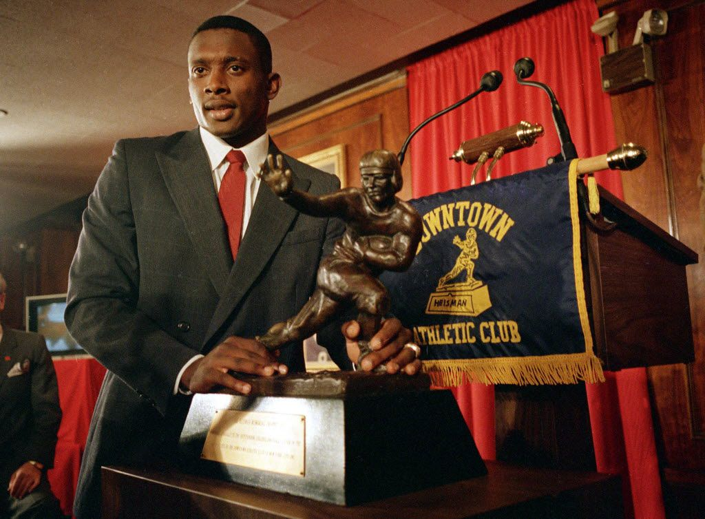 Tim Brown, a graduate of Dallas' Woodrow Wilson High School, won the Heisman Trophy in 1987 while playing for the Notre Dame Fighting Irish.