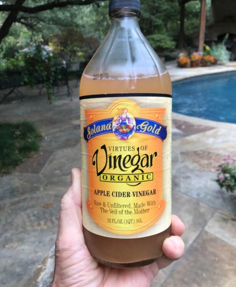Apple cider vinegar is the key ingredient in Garrett Juice.