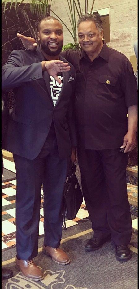 Lee Merritt, civil rights activist Jesse Jackson (Courtesy of Lee Merritt)