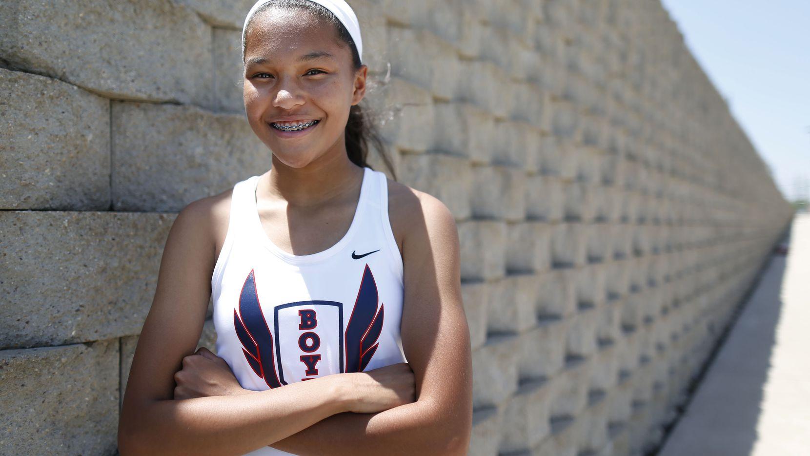 Girls Track Athlete of the Year, Aaliyah Miller of McKinney Boyd High School