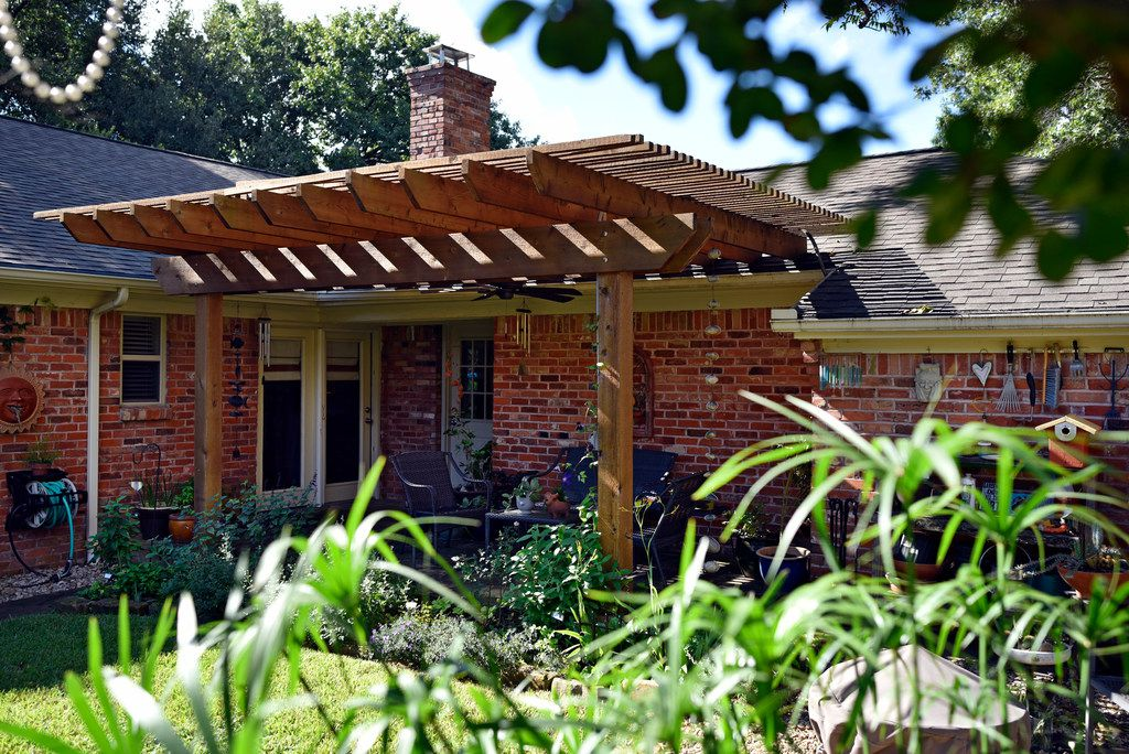 Felix Saucedo built a pergola in his Dallas backyard.