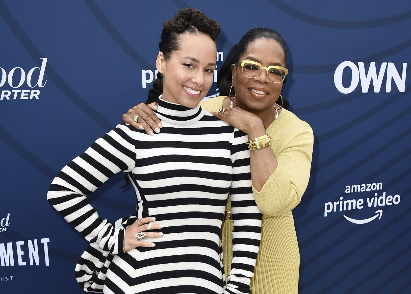 Alicia Keys (left) and Oprah Winfrey have become close friends, and Keys released her book through the media icon's An Oprah Book imprint via Flatiron Books.