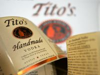 Austin-based Tito's Handmade Vodka is distilled six times, as the back label proudly states. But the company and the CDC do not recommend using it in homemade hand sanitizer recipes.
