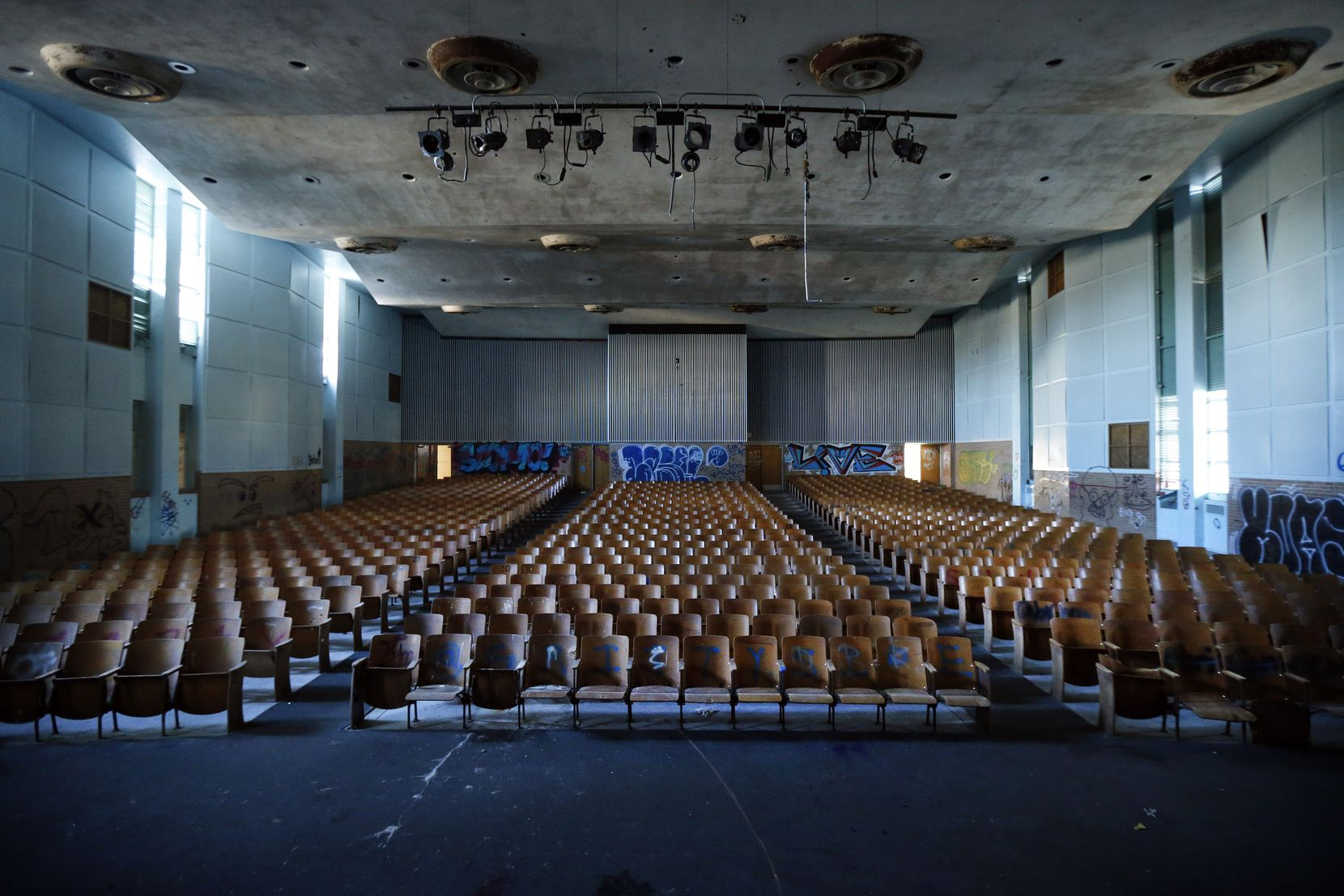 The 900-seat auditorium at Pearl C. Anderson will become the sanctuary at Watermark Community Church's new South Dallas campus.