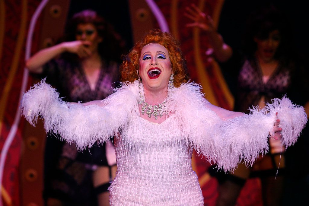 Quarantined Cabaret founder Mikey Abrams (playing Albin) in 'La Cage Aux Folles,' presented by Uptown Players at the Kalita Humphreys Theater in Dallas