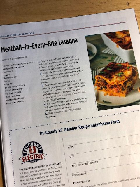 Score! The recipe gets sent to electricity customers in parts of 16 North Texas counties.
